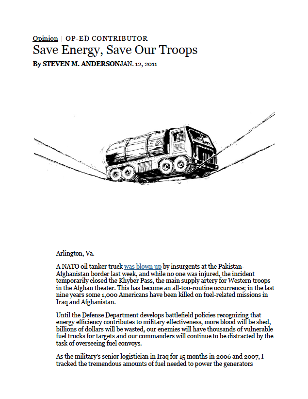 world housing solution Saving energy to save our troops